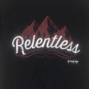 """Tops - """"Relentless"""" 100% Cotton T"""
